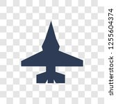 fighter plane icon. trendy...   Shutterstock .eps vector #1255604374