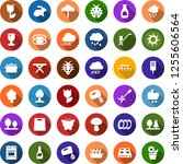 color back flat icon set   rain ... | Shutterstock .eps vector #1255606564