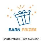 earn prizes vector illustration ... | Shutterstock .eps vector #1255607854