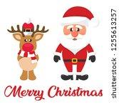 cartoon christmas santa claus... | Shutterstock .eps vector #1255613257