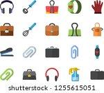 color flat icon set apron flat... | Shutterstock .eps vector #1255615051