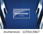 blue background with dotted... | Shutterstock .eps vector #1255615867