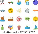color flat icon set cake flat... | Shutterstock .eps vector #1255617217
