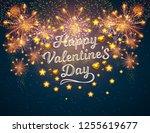 happy valentine's day displayed ... | Shutterstock .eps vector #1255619677