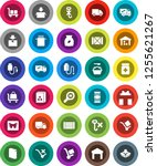 white solid icon set  washing... | Shutterstock .eps vector #1255621267