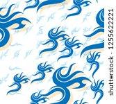 vintage seamless pattern vector | Shutterstock .eps vector #1255622221