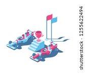 sport car formula 3d vector...   Shutterstock .eps vector #1255622494