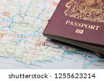 united kingdom passport on a... | Shutterstock . vector #1255623214