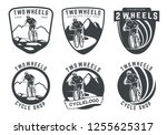 set of bicycle logo  emblems...   Shutterstock . vector #1255625317
