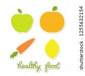 healthy food veggie banner... | Shutterstock .eps vector #1255632154
