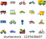 color flat icon set pickup... | Shutterstock .eps vector #1255638607