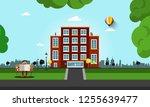 urban landscape vector... | Shutterstock .eps vector #1255639477