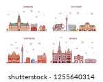business city in germany.... | Shutterstock . vector #1255640314