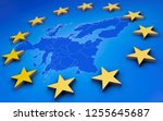 europe union 3d | Shutterstock . vector #1255645687