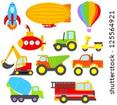 cute vector transportation and...