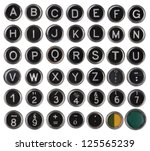 Old Typewriter Keys  Alphabet...