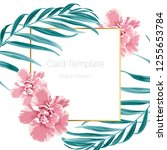 exotic camelia flowers and... | Shutterstock .eps vector #1255653784
