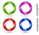 set of swirl icons   vector... | Shutterstock .eps vector #125568047