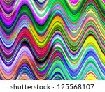 Vibrant Multicolored Waves...
