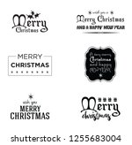 merry christmas. happy new year.... | Shutterstock .eps vector #1255683004