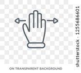 horizontal gesture icon. trendy ... | Shutterstock .eps vector #1255686601