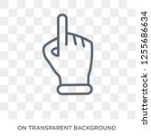 press with two fingers icon.... | Shutterstock .eps vector #1255686634