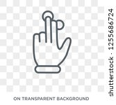 three fingered hand gesture... | Shutterstock .eps vector #1255686724