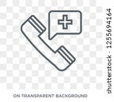 emergency call icon. trendy... | Shutterstock .eps vector #1255694164