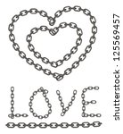 heart of chain  chain of love   Shutterstock .eps vector #125569457