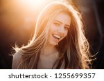 perfect smile. happy woman.... | Shutterstock . vector #1255699357