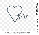 pulse icon. trendy flat vector... | Shutterstock .eps vector #1255700884