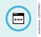 browser icon symbol. premium... | Shutterstock .eps vector #1255709857