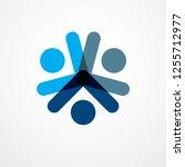 teamwork and friendship concept ... | Shutterstock .eps vector #1255712977