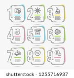 infographic template with... | Shutterstock .eps vector #1255716937