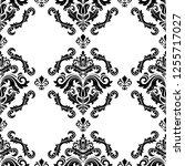 classic seamless vector pattern.... | Shutterstock .eps vector #1255717027