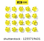 report  time and globe line... | Shutterstock .eps vector #1255719631