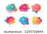 dynamic liquid shapes. set of... | Shutterstock .eps vector #1255720894