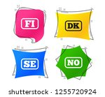 language icons. fi  dk  se and... | Shutterstock .eps vector #1255720924