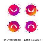 hands icons. insurance... | Shutterstock .eps vector #1255721014