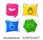 hand icons. handshake... | Shutterstock .eps vector #1255721017
