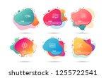 dynamic liquid shapes. set of... | Shutterstock .eps vector #1255722541