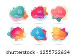 dynamic liquid shapes. set of... | Shutterstock .eps vector #1255722634