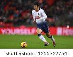 son heung min of tottenham... | Shutterstock . vector #1255722754