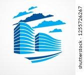 office building  modern... | Shutterstock .eps vector #1255726267