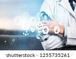 medical technology or medical... | Shutterstock . vector #1255735261