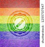 candy icon inside lgbt colors... | Shutterstock .eps vector #1255737547