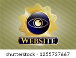 golden emblem or badge with... | Shutterstock .eps vector #1255737667