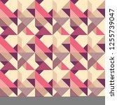 retro seamless pattern design... | Shutterstock .eps vector #1255739047
