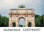 triumphal arch  arc de triomphe ... | Shutterstock . vector #1255744357