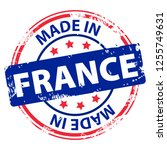 made in france rubber stamp... | Shutterstock .eps vector #1255749631
